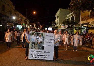 Colégio Batista de Mantena participa de desfile cívico com tema: Saúde, do feto à 3ª idade.
